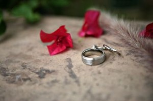 Flowers! Rings! Photo by Karen Leah Photography.