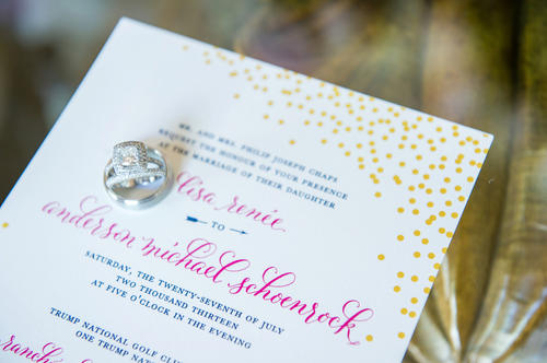 Invitation and Menu by Plurabelle Calligraphy and Kate Allen