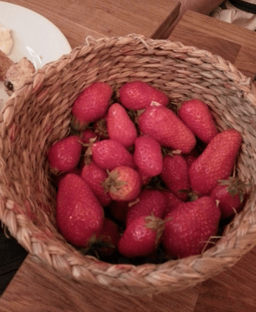 Those amazing strawberries...