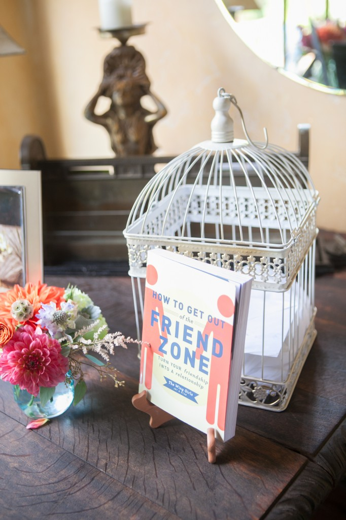 The bride is the co-author of a savvy, funny book about dating - How to Get Out of The Friend Zone.