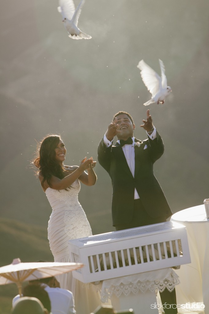 A dove release capped off the ceremony.  Photo by Slickforce/Nick Saglimbeni