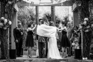 Ceremony Under Chuppah Calamigos Ranch