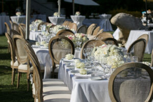 wedding french country chairs town and country rental ivory long tables four seasons westlake village