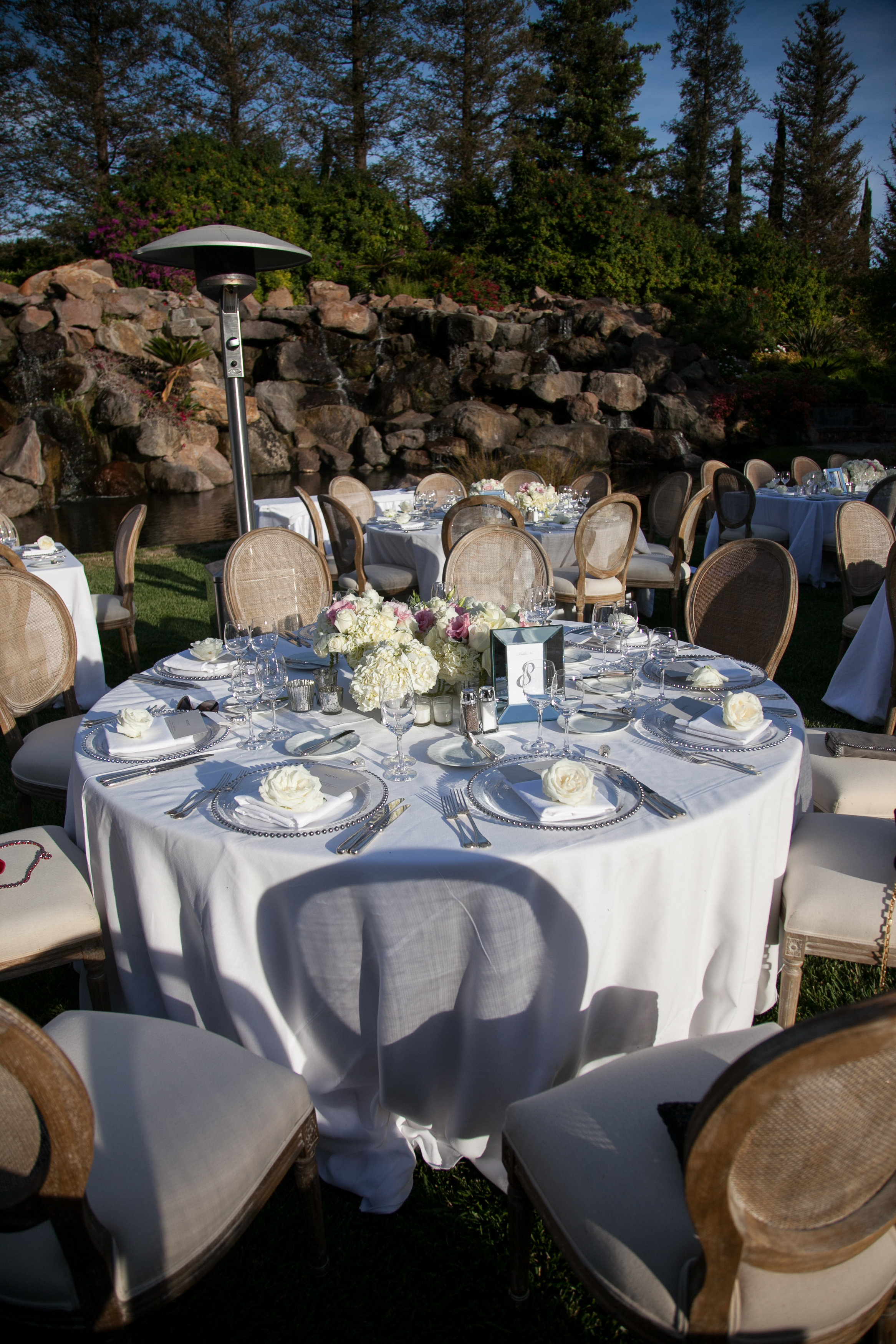 waterfall lawn four seasons westlake village wedding